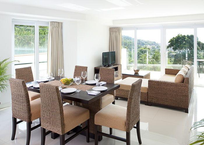 Santosa Resort Detox Wellness Spa Yoga Retreat Kata Beach Phuket Thailand RESORT Accommodation BEDROOM APARTMENT SEA VIEW Dinning Table 700x500