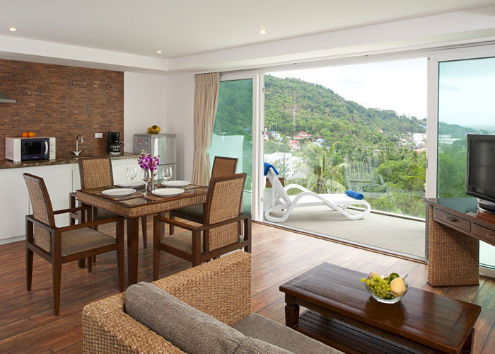 Santosa Resort Detox Wellness Spa Yoga Retreat Kata Beach Phuket Thailand RESORT Accommodation BEDROOM SUITE SEA VIEW View 700x500