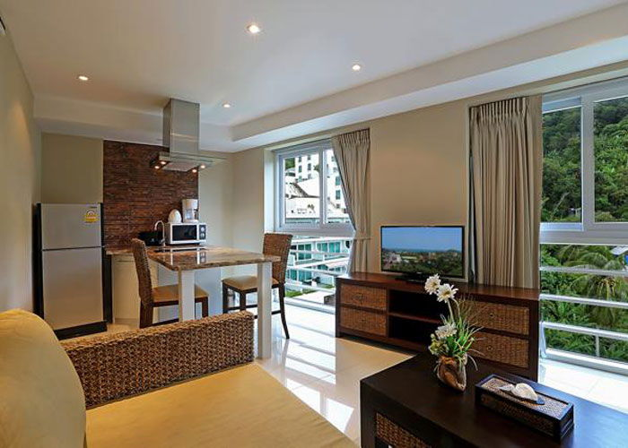 Santosa Resort Detox Wellness Spa Yoga Retreat Kata Beach Phuket Thailand RESORT Accommodation Livingroom BEDROOM APARTMENT BUDDHA VIEW 700 500
