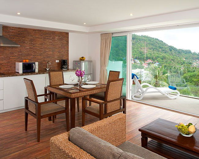 Apartment Dining Area With Terrace View Santosa Resort Phuket