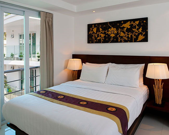 Bed Room With Balcony Santosa Resort Phuket