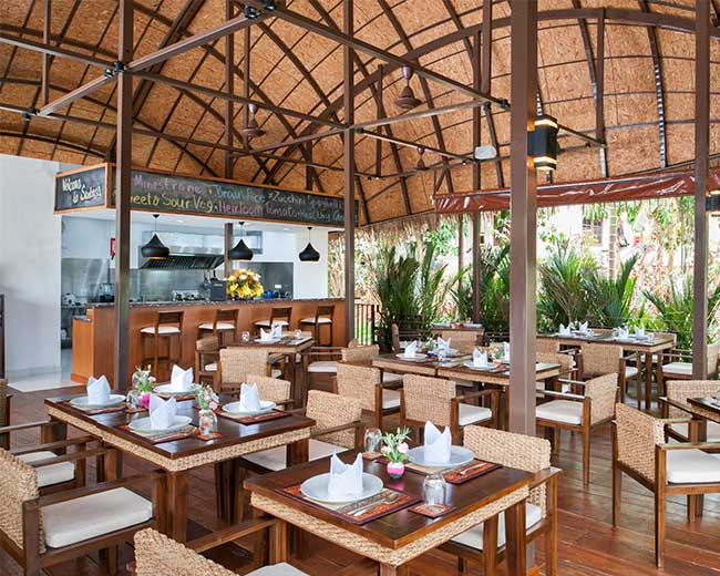 Vegan Restaurant Area Santosa Resort Phuket
