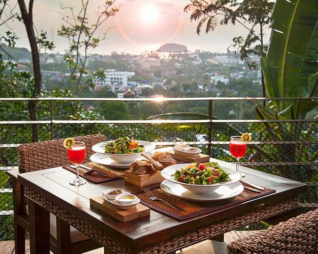 Vegan Restaurant Landscape Panorama Santosa Resort Phuket