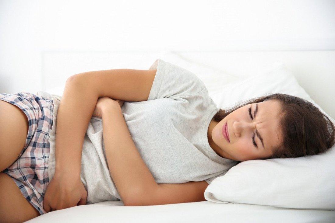 Women With Stomach Ache. Cure Candida Cleanse Detox Program Santosa Phuket