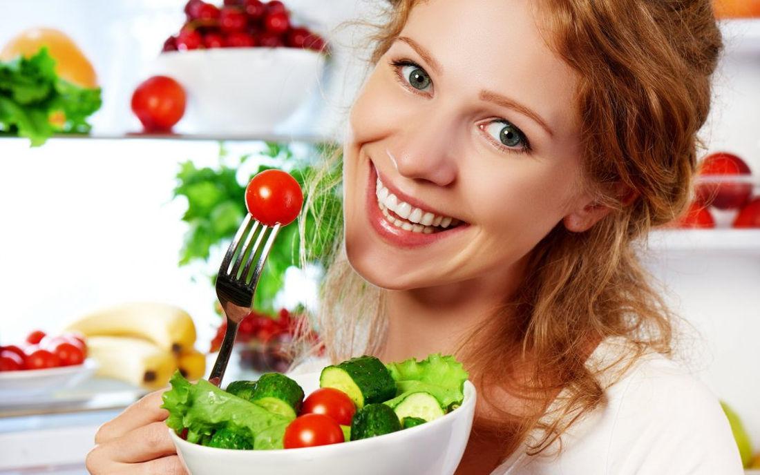 Santosa Detox Wellness Center Women Eats Fresh Mixed Salad