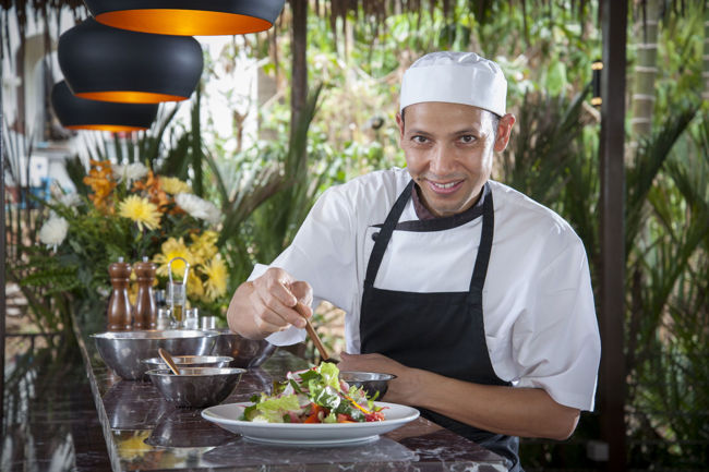 Santosa Resort Detox Wellness Spa Cook Preparing Healthy Vegan Food