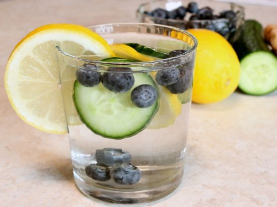 Santosa Detox Wellness Center Glass Of Water With Fruits