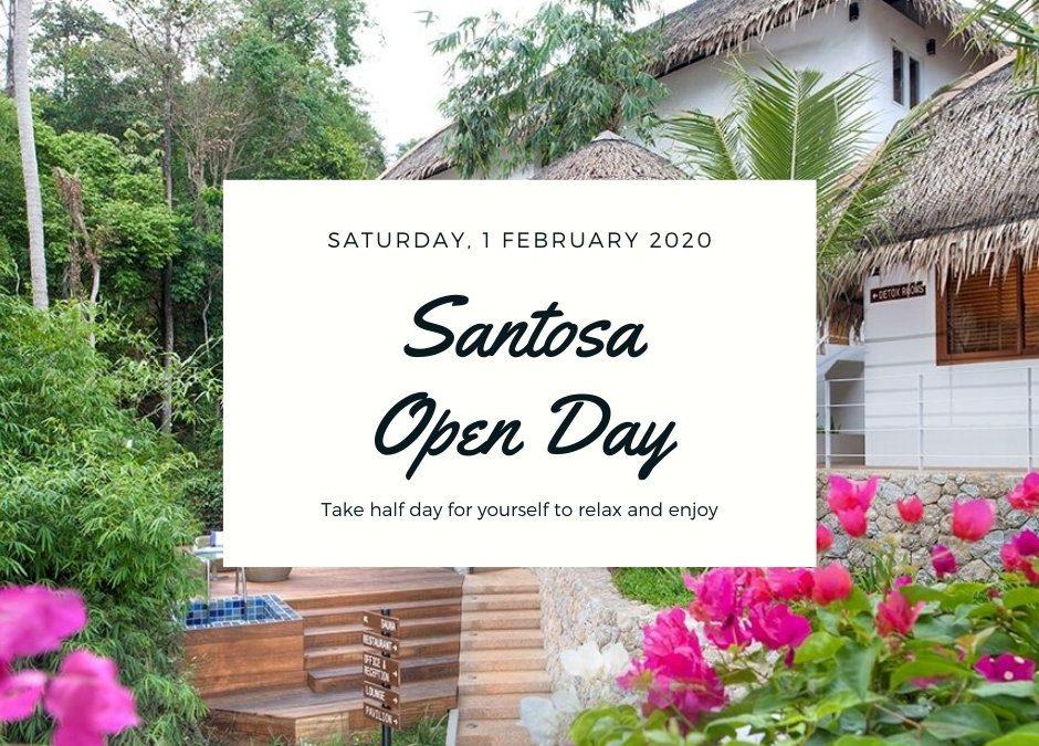 Santosa Open Day Agenda, Saturday 1st February